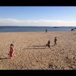 Kid's playing at Rye Beach