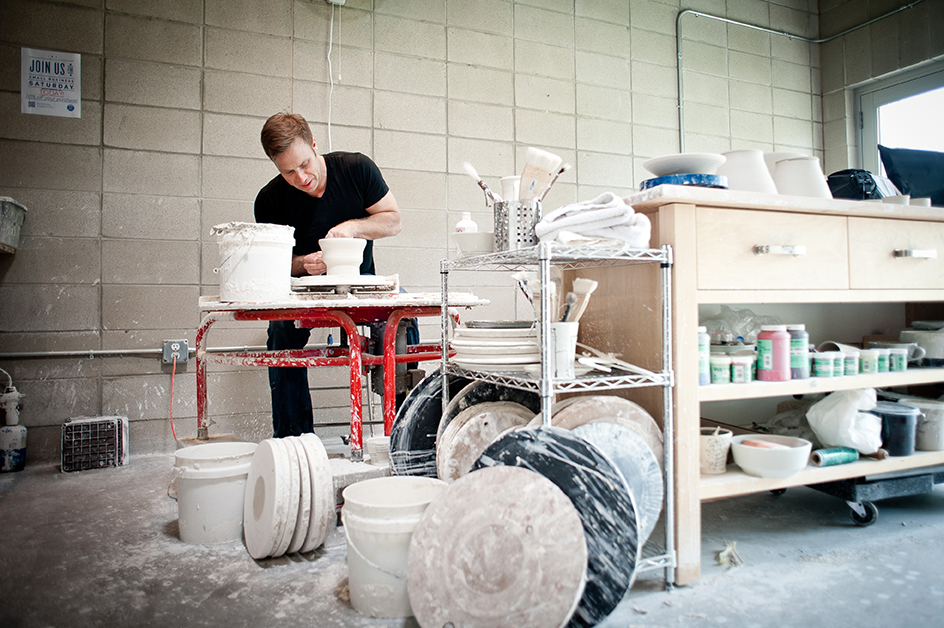 Keith in the Kreeger Pottery Studio