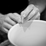 Refining the rim of a bowl